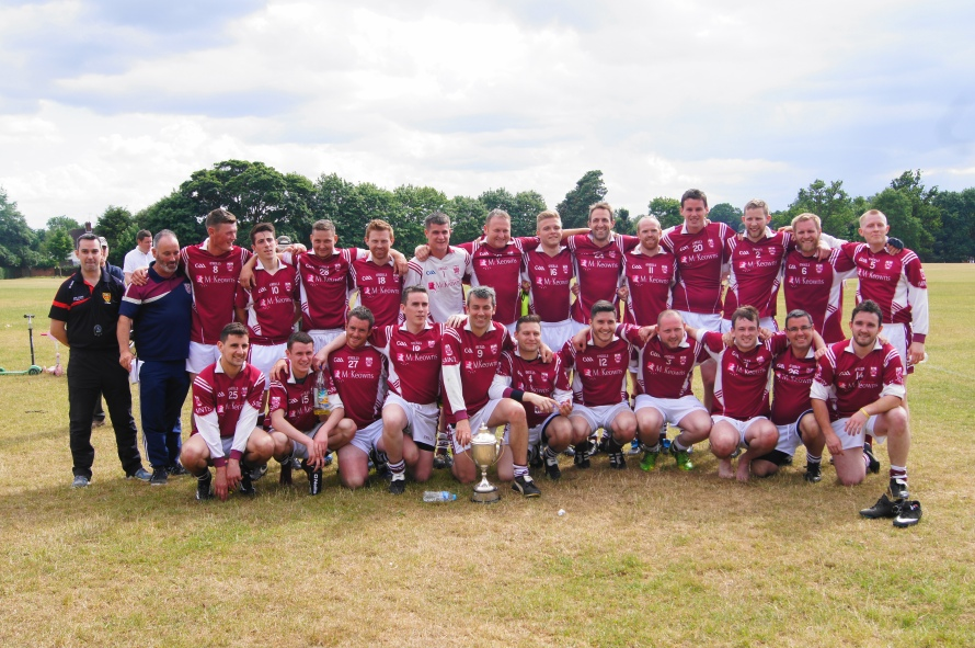 St. Colmcilles Senior Men's Team After Winning the 2015 Hertfordshire League Final