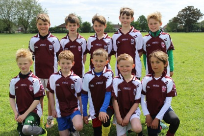The St Colmcilles Under 10s who were in action in the London tournament this weekend. The team won all of their matches in the tournament.