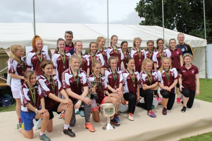 The victorious Under 14s Girls Team after winning the All Britain Championship 2016