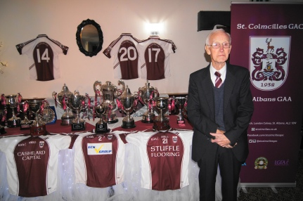 Joe is a very proud man in front of all this silverware!