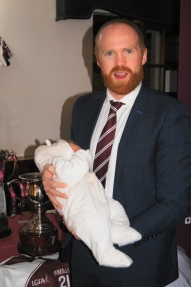 Gavin Walsh with baby Michael.