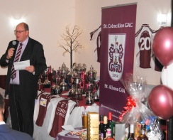 Club Chairman, Andy Clifford making his speech.