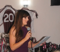 Ladies Chairperson, Clár Ní Mheacair making her speech.