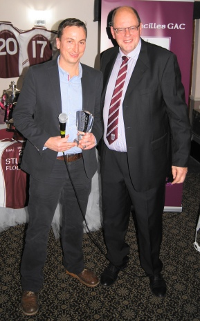 Rory Norris receives the Clubman of the Year Award.