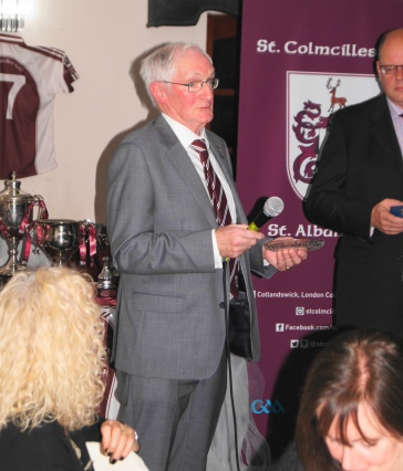 Bob Canty saying a few words about his time at the club.